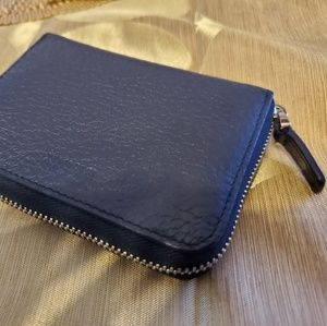 Bally Embossed Leather Black Coin Wallet.